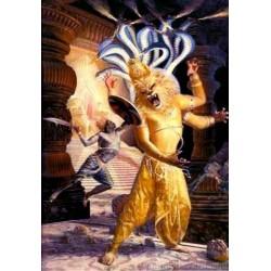 Lord Narasimha Fighting Hiranyakasipu