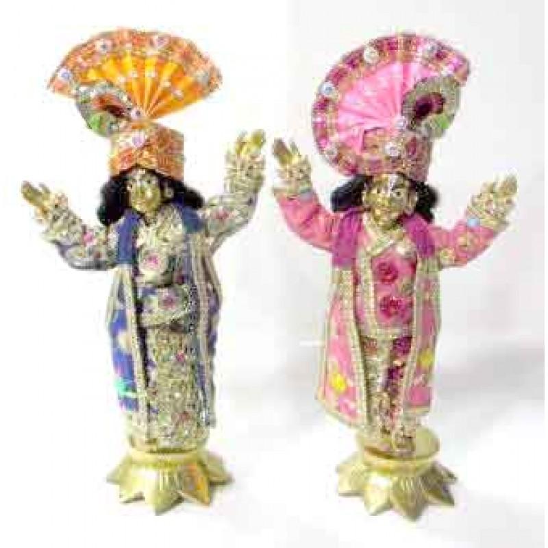Gour Nitai Brass With Dress