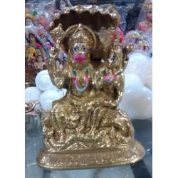 Lakshmi Narsimha  Brass Deity