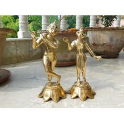 "Radha Krishna Brass 10"""
