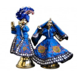 Radha Krishna Dress Blue (Full Set)