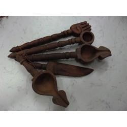 Yajna Spoons Dark Brown