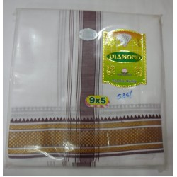 Fancy South Indian Dhoti and Chadar 04
