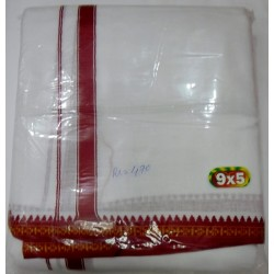 Fancy South Indian Dhoti and Chadar 05