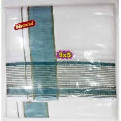 Fancy South Indian Dhoti and Chadar 12