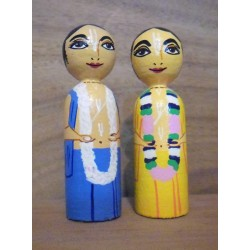 Gour Nitai Wooden Dolls