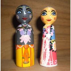 Radha Krishna Wooden Dolls
