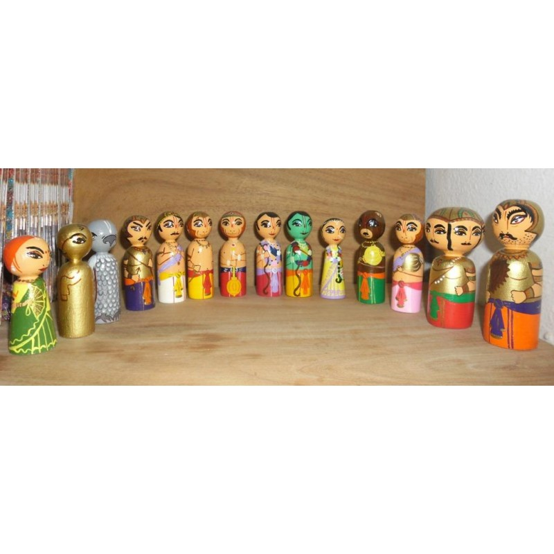 The Ramayan - Wooden Dolls