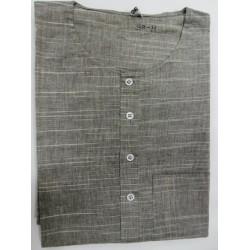 Patterned Grey Kurta 01