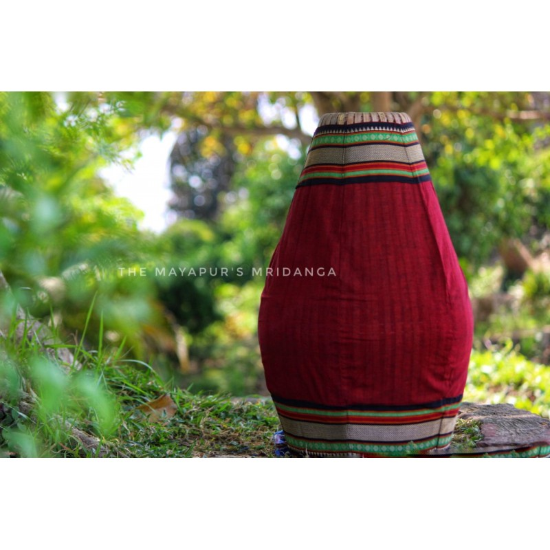 Deep Red Mridanga Cover