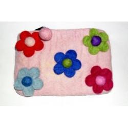 Pink Flowery Purse