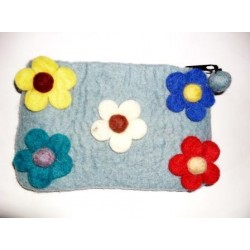 Blue Flowery Purse