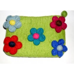 Green Flowery Purse