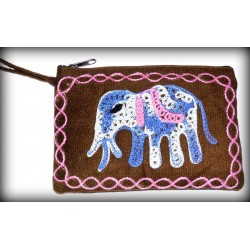 Brown Felt Purse