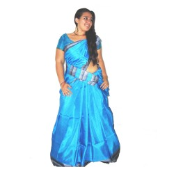 Bright Blue Silk Saree