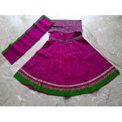 Purple cotton kids skirt - Kids