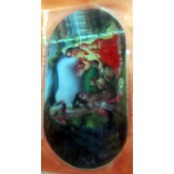 Radha Krishna Double Sticker - Both Sides