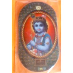 Krishna Double Sticker - Both Sides