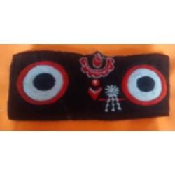 Embroidered Lord Jagannath Sticker Black